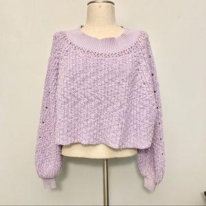 Free People Balloon Sleeve Chunky Knit Sweater